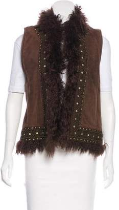 Tory Burch Suede Embroidered Vest