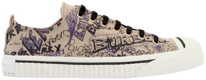 20mm Kingly Doodle Canvas Sneakers