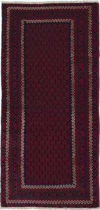 Ecarpetgallery eCarpet Gallery 213038 Hand-Knotted Rizbaft 2' x 6' 100% Wool Traditional Runner