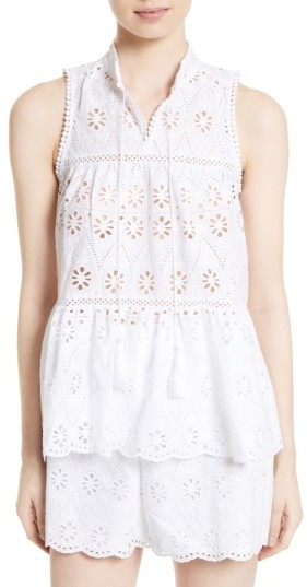 Women's Kate Spade New York Eyelet Embroidered Tiered Top