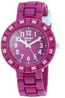 Flik Flak Girls Analogue Quartz Watch with Plastic Strap FCSP089