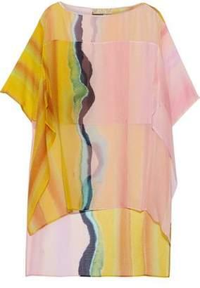 Emilio Pucci Layered Printed Silk-Seersucker Top