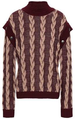 Marc Jacobs Button-detailed Wool Jacquard Sweater