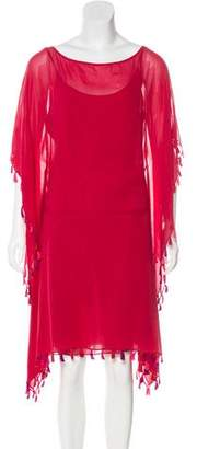 Antik Batik Silk Fringe-Trimmed Dress