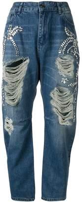 Twin-Set distressed twist leg jeans