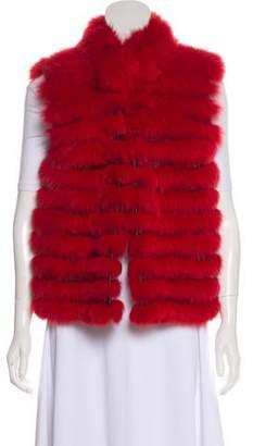 Zandra Rhodes Fur Collarless Vest