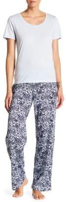 Maidenform Tee & Printed Pants Pajama Set