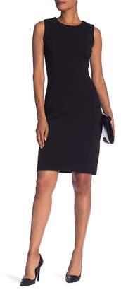 Marina Back Zipper Sheath Dress