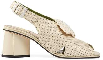 Gucci Mid-heel sandal with shell