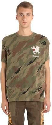 MHI Tiger Embroidered Camo Jersey T-Shirt