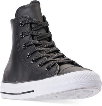 Converse Chuck Taylor All Star Leather High Top Casual Sneakers from Finish Line
