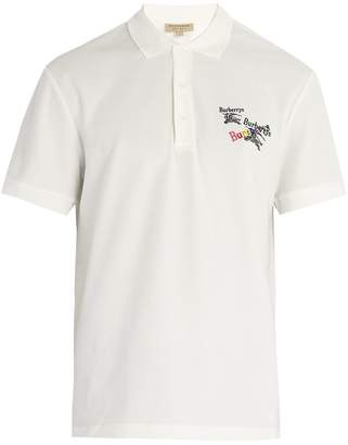 Burberry Rainbow logo-embroidered cotton-piqué polo shirt