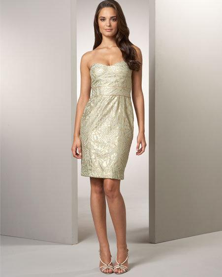 Diane von Furstenberg Golden Foil Dress