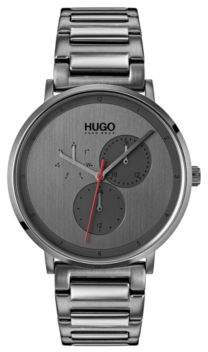 HUGO Boss Grey-plated watch stainless-steel bracelet One Size Assorted-Pre-Pack