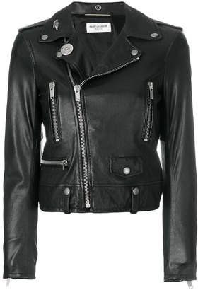 Saint Laurent zipped fitted biker jacket