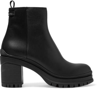 Prada - Leather Ankle Boots - Black