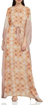 BCBGMAXAZRIA Gael Tile Print Maxi Dress
