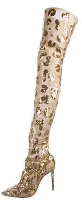 Gianvito Rossi Daze Cuissard Boots w/ Tags Gold Daze Cuissard Boots w/ Tags
