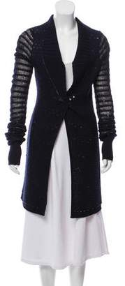 Zac Posen Wool-Blend Embellished Cardigan