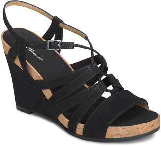 Aerosoles A2 BY A2 by Poppy Plush Womens Wedge Sandals