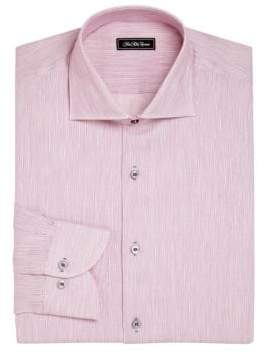 COLLECTION Regular-Fit Cotton & Linen Pinstriped Dress Shirt