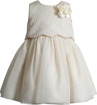 Sweet Heart Rose Baby Girls' Popover & Glitter Mesh Dress $70 thestylecure.com