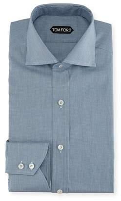 Tom Ford Mini-Texture Cotton Dress Shirt