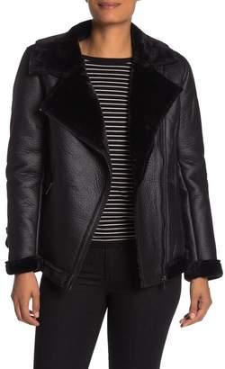 Sebby Faux Shearling Moto Jacket