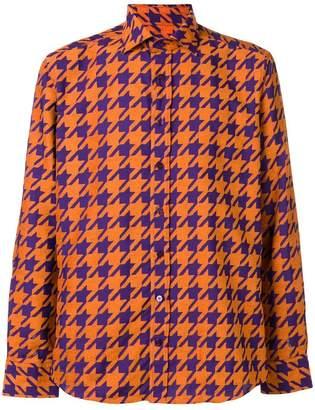 Etro houndtooth-print shirt