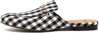 Mollini Gingham Black-white Shoes Womens Shoes Casual Flat Shoes