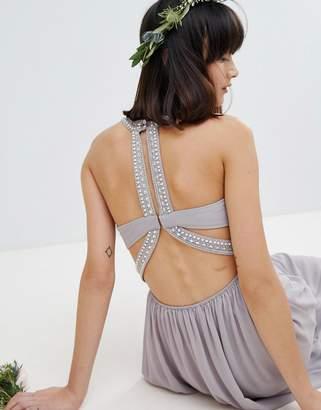 TFNC Embellished Back Detail Maxi Bridesmaid Dress