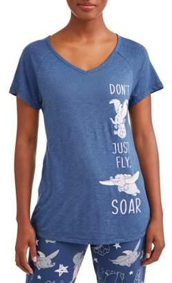 Disney Women's and Women's Plus Dumbo Pajama T-shirt
