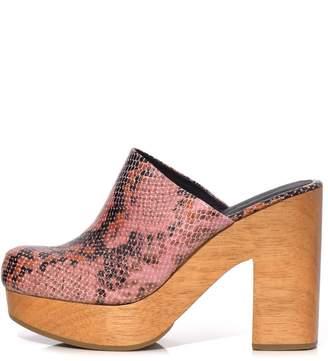 Rachel Comey Dakota Clog in Pink Snake