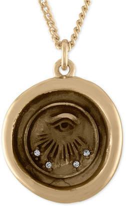 Rachel Roy Gold-Tone Evil-Eye Talisman Pendant Necklace