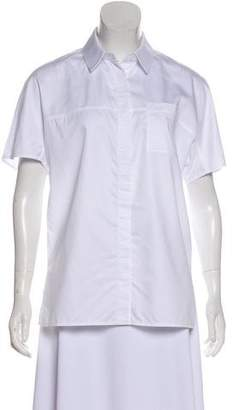 Jason Wu Short Sleeve Button-Up Top