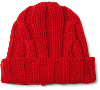 Connolly Ribbed Merino Wool And Cashmere-Blend Beanie