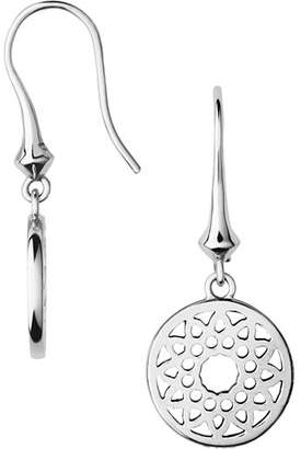 Links of London Timeless Sterling Silver Filagree Disc Drop Earrings