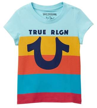 True Religion Stripe Horseshoe Tee (Toddler & Little Girls)
