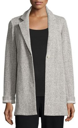 Eileen Fisher Twisted Terry Long Jacket $278 thestylecure.com