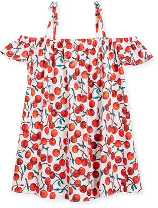 Milly Minis Eden Cherry-Print Coverup Dress, Size 4-7