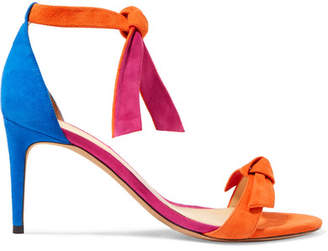c7fe5d42485 Alexandre Birman Clarita Bow-embellished Color-block Suede Sandals - Orange