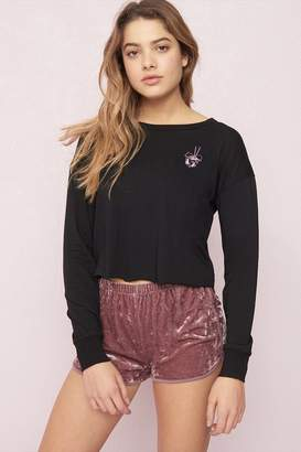 Garage Cropped Long Sleeve Tee - FINAL SALE