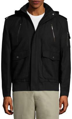 Asstd National Brand Wool Bomber Jckt Boucle Midweight Bomber Jacket