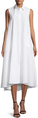 Loro Piana Gayle Luxury Cotton/Silk Sleeveless Shirtdress
