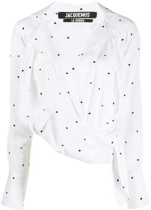 Jacquemus embroidered dot blouse