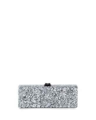 Edie Parker Flavia Confetti Acrylic Clutch Bag, Silver