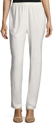 Caroline Rose Stretch-Knit Slim Pants, Plus Size