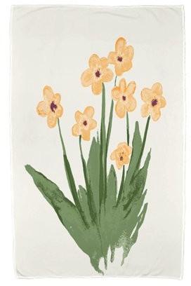 Simply Daisy, 30 x 60 inch, Pretty Little Flower Beach Towel, Yellow