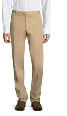 Saks Fifth Avenue x Traiano Stretch Garment-Dyed Regular-Fit Chinos