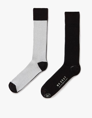 Split Color Block Sock $24 thestylecure.com